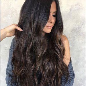 20 INCH DARK BROWN TAPE IN EXTENSIONS HUMAN HAIR